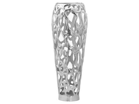 tall metal coral vase | woven metal vase | Ohlson